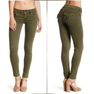 Hudson Collin Skinny Jeans in Green Ivy